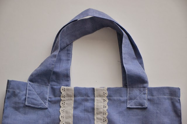 DIY Chambray Tote Bag