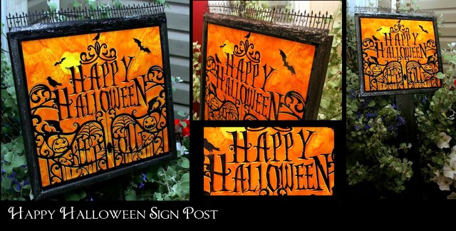 Halloween+Sign Halloween Sign Post
