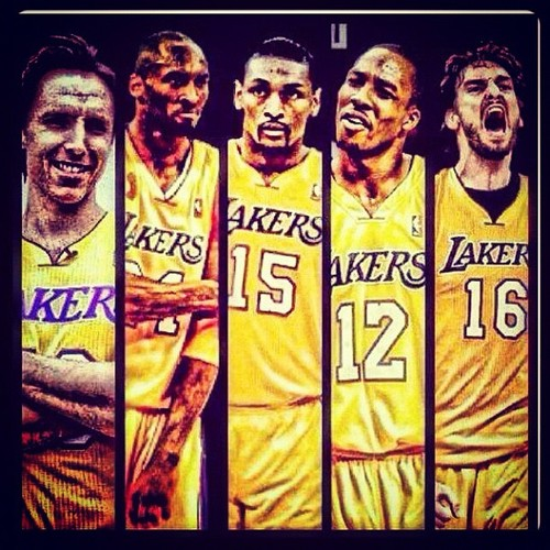 Lakers Starting Lineup 2013