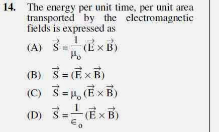 2012 June UGC NET in Electronic Science, Paper II, Question 14