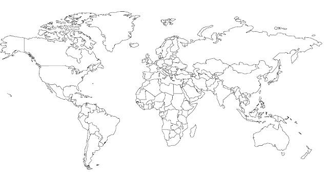 dibujo planisferio: