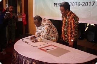 Serikat Pekerja Seluruh Indonesia (SPSI) dan Manajemen PT Pangansari Utama gelar PKB