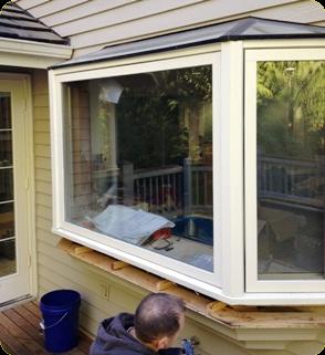 Eastside vinyl window replacement seattle bellevue for Bay window installation
