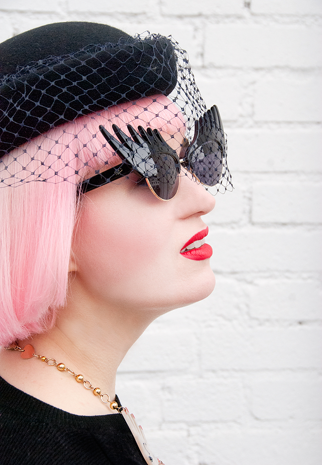 Tatty devine, eyleash sunglasses, my vintage wedding