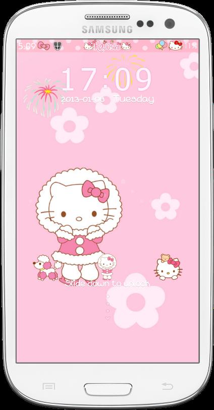 Pretty Droid Themes: Hello Kitty Winter Go Locker