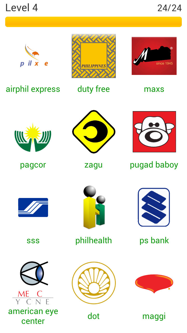 Logo Quiz Philippines Level 4 #13-24