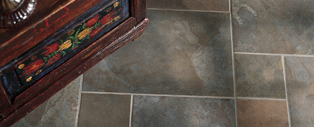 Using tiles of different sizes creates a pattern that's just right for a conservative feel.
