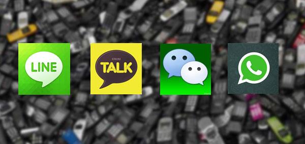Download Aplikasi Line, KakaoTalk, WeChat dan WhatsApp