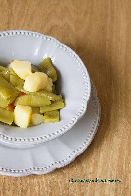 vainas con patatas fussion cook