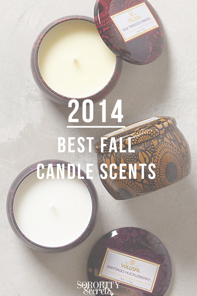 The Sorority Secrets 2014 Best Fall Candle Scents
