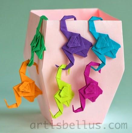 Origami Toys Monkeys