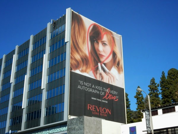 Emma Stone Revlon Love is on billboard
