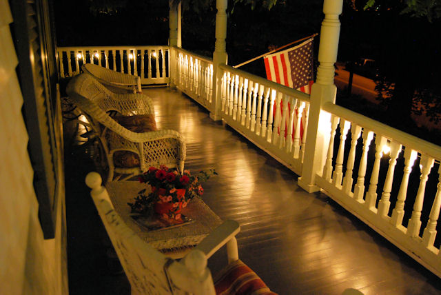 Claiborne House bed and breakfast wants you to sit a spell on the porch!