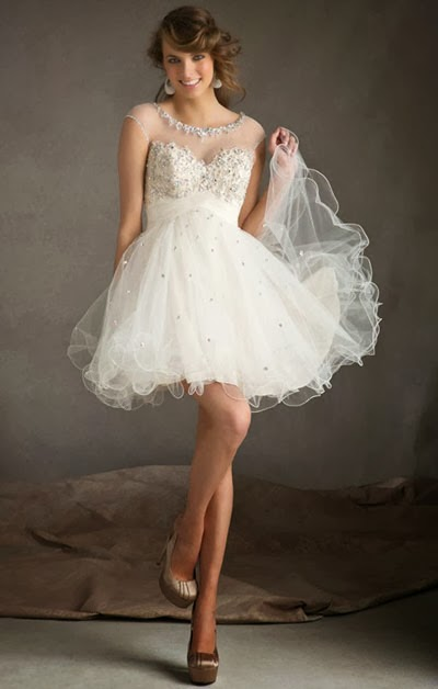 Lace Wedding Dress Short : Myfashion notes short lace wedding dress feminine style