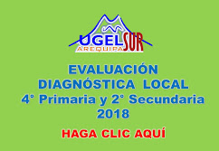 EVALUACIÓN DIAGNÓSTICA LOCAL 4TO PRIMARIA Y 2DO SECUNDARIA 2018
