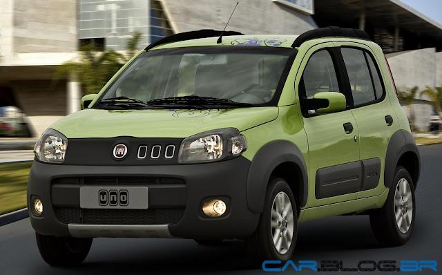 Fiat Uno Way 2013 - amarelo