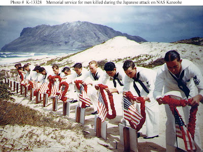 memorial service for sailors killed in pearl harbor attack