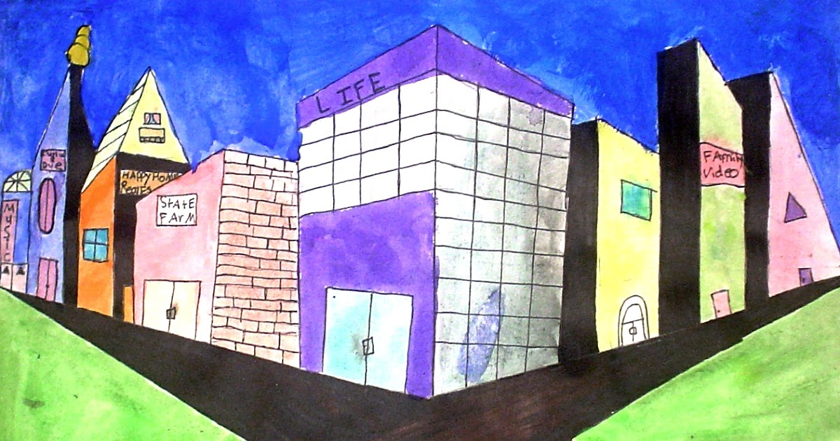 Lessons From The K 12 Art Room Two Point Perspective