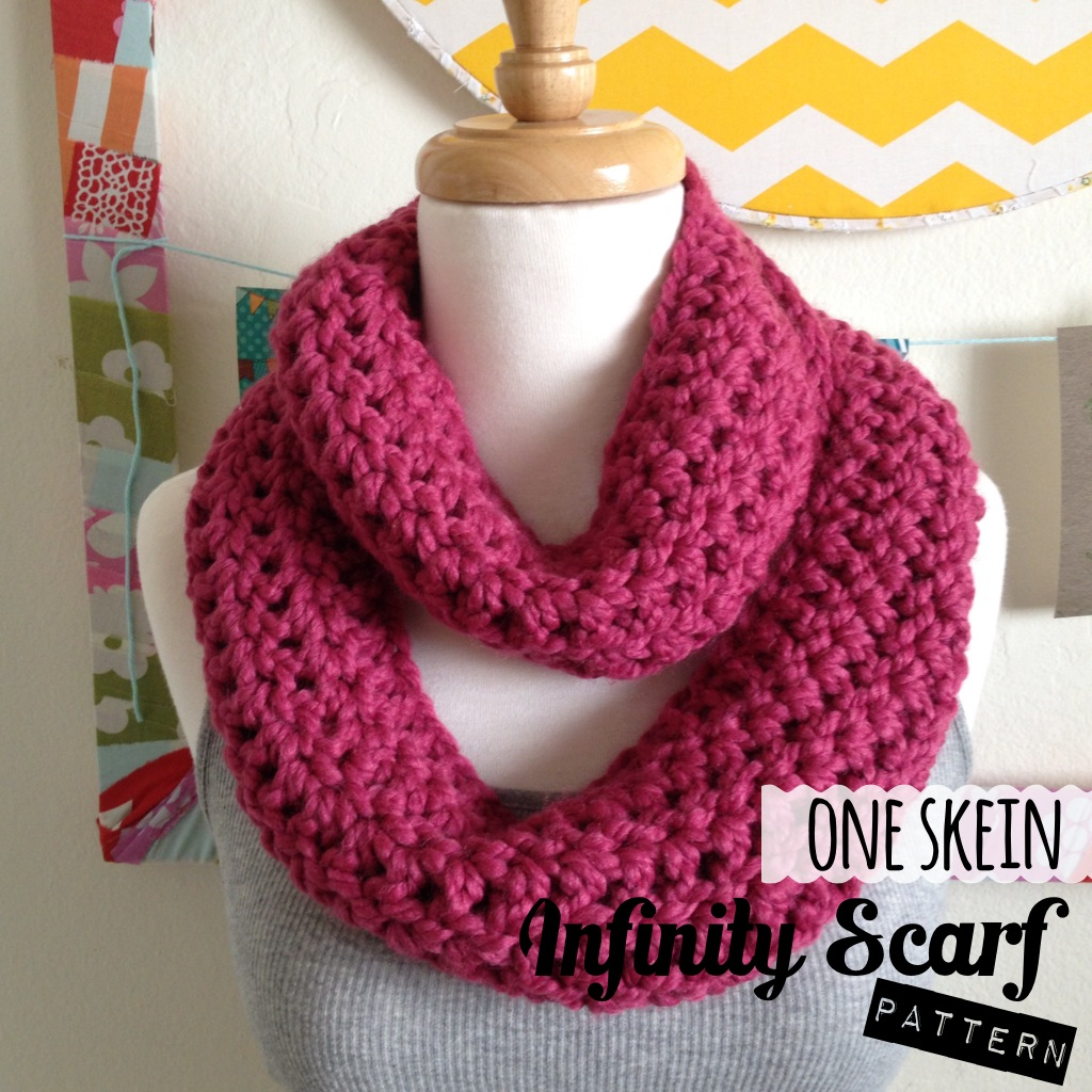 One Skein Knit Patterns : Sew Chatty: {One Skein Infinity Scarf Pattern}
