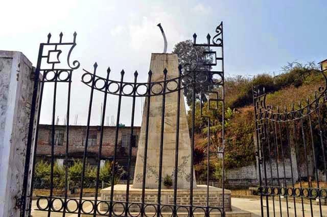 Saheed Park in Kalimpong vandalised