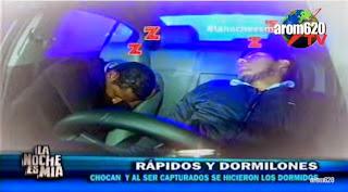 Chocan y se hacen los dormidos con la policia