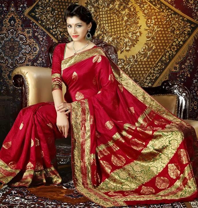 Silk Saree | Classic Saree | South Indian Silk Sarees 2013-14 - Clothing9Store.pk