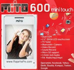 Spesifikasi Dan Harga HP Mito 600 Mini Touch