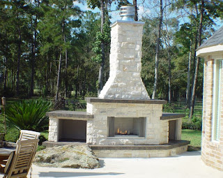 Custom Made Outdoor Fireplaces