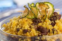 Cuscuz Marroquino com Curry e Uva-Passa (vegana)