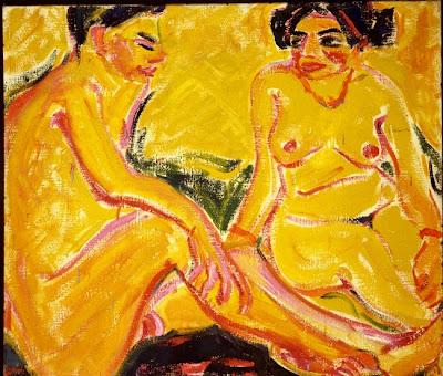 Erich Heckel (1883-1970) Jeune homme et jeune fille , 1909