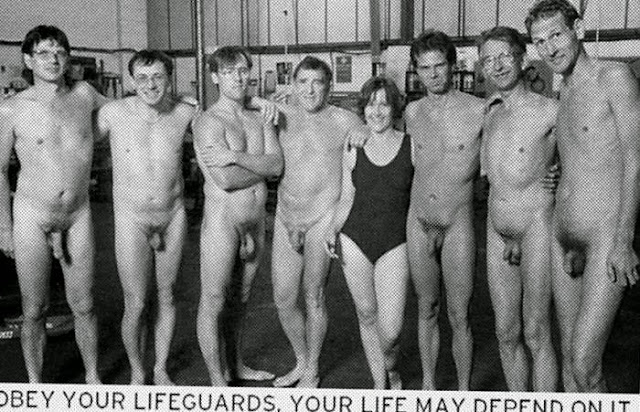 Vintage Naked Male Lifeguards