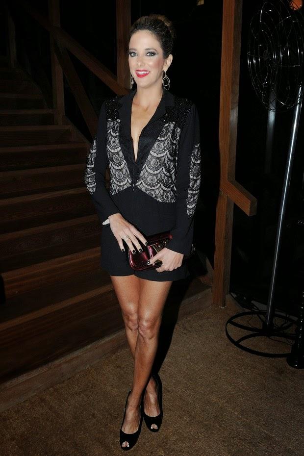 Giovanna Lancellotti foi uma das convidadas do lançamento da nova coleção de joias da Vivara. A loja lançou peças especiais para o Dia das Mães e Dia dos Namorados
