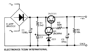 LOW RIPPLE POWER SUPPLY CIRCUIT DIAGRAM ELECTRONIC PROJECT | BASIC ...