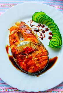 bento steak salmon