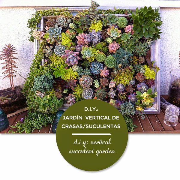 Vintage chic blog decoraci n vintage diy ideas para for Como construir un jardin vertical