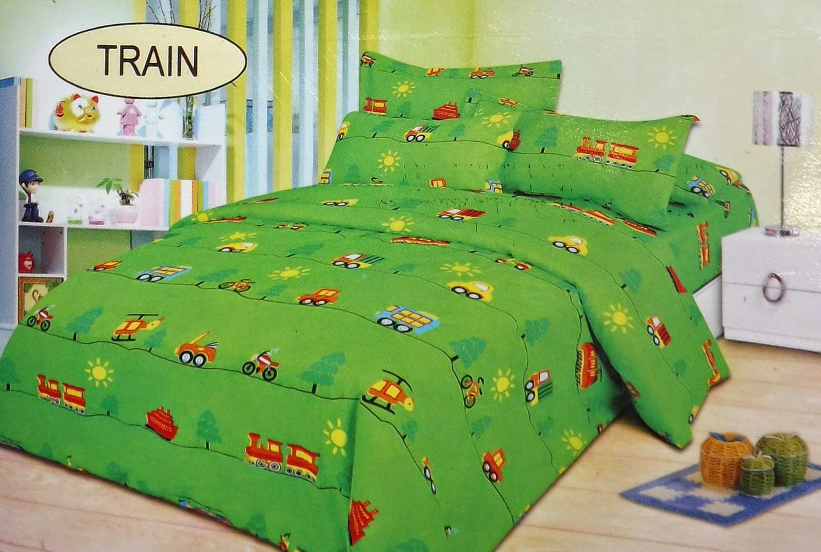Sprei Bed Cover Bonita Train