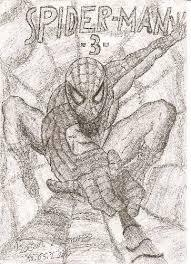 örümcek Adamspiderman Karakalem çizimleri Karakalem çizimleri