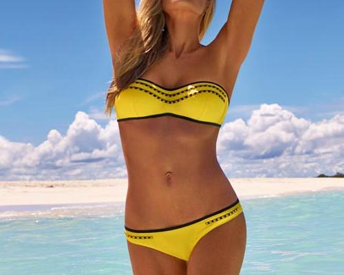 Flitteres díszítésű, pánt nélküli bikini - Calzedonia bikini 2013