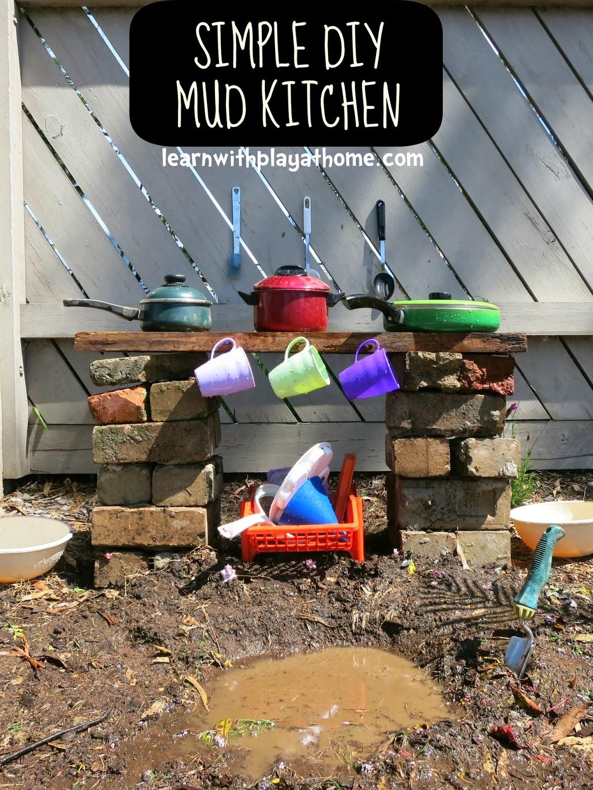 Simple DIY Mudpie Kitchen