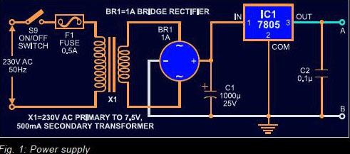 Quiz buzzer circuit diary the regulated 5v power supply for the quiz buzzer section is derived from ac mains the 230v ac mains is stepped down to 75v ac ccuart Images