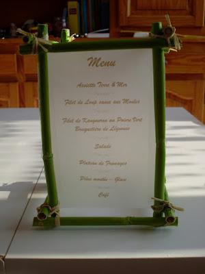 Carta o Menú de Restaurant