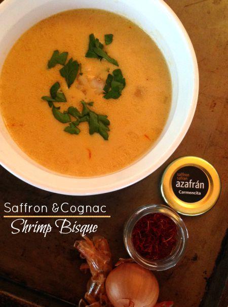Shrimp, Soup, Bisque, Saffron, Cognac Creamy
