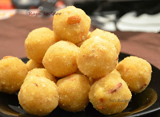 Rava Laddoo (Semolina Sweet), sooji laddu,