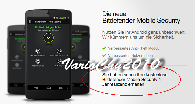 Bitdefender Mobile Security + Key 1 Tahun