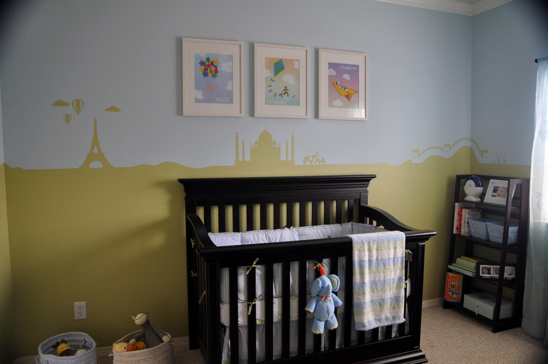 Travel Themed Nursery With A Custom Mural