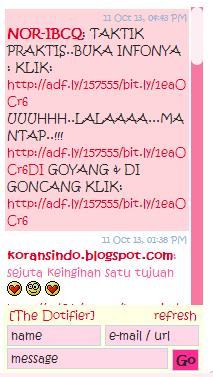 chatbox,shoutbox, tinggalkan jejak, tinggalkan link, iklan, bw,