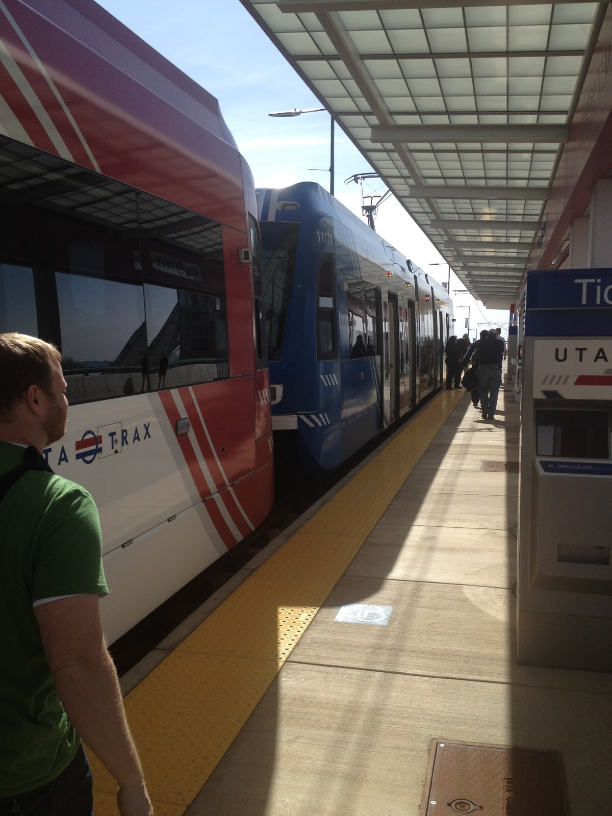 image of north temple TRAX stop