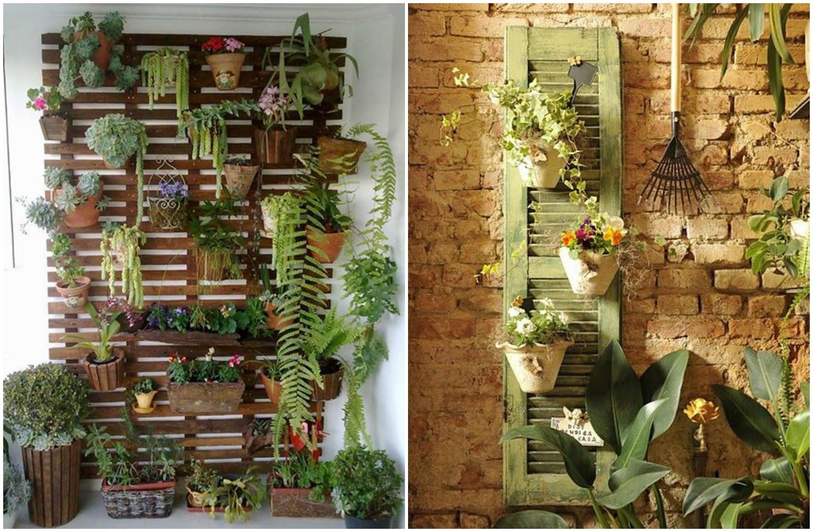 Decoração: Jardim vertical com pallets Distância Certa #6C4523 1600x1046