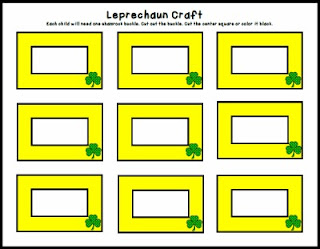 St. Patrick day crafts, St. Patricks day activities, book activities, image, leprechaun hat, free printable, free pdf