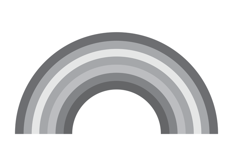 Black And White Rainbow Template Black and white,
